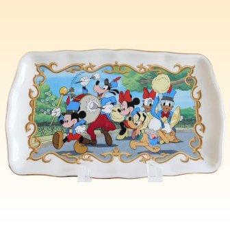 Disney Marching Band Lenox Vintage Porcelain Tray