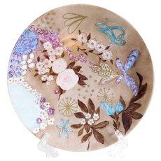Vintage Swedish Signed Hand-Painted Floral Porcelain Plate