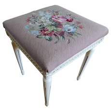 Vintage Floral Petit Point Bench/Table