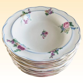 Grindley England Summer Berry/Fruit Bowls - Set 12