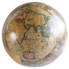 Vintage Papier Mache Old World Globe