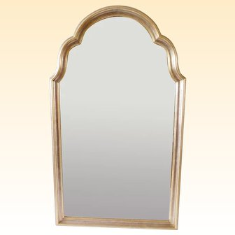 Fabulous Vintage La Barge Gold and Silver Leaf Wall Mirror