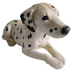 Vintage Hand-Painted and Hand Sand-Cast Dalmation Puppy
