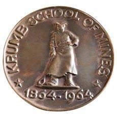 Rare Columbia University Krumbs School of Mines Centennial Medal