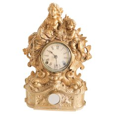 Victorian Gilt Metal Table Clock C. 1870