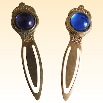 Vintage Royal Jewel Tone Bookmarks - a Pai