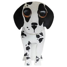 Adorable Vintage Wooden Dalmation Doorstop