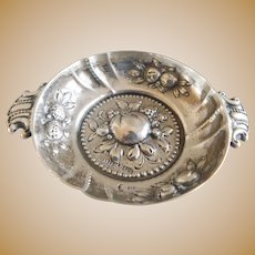 Antique 800 Silver Handgetrieben Germany Condiment Dish