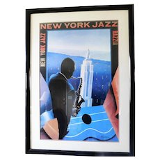 New York Jazz Poster by Razzia (Gerard Courbouleix)