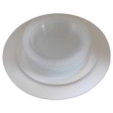 Mid-Century Glass Dessert Platter & Plates - Set of 10