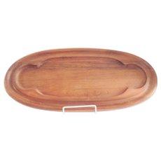 Dansk Mid-Century Teak Wood Oval Tray