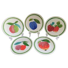 Villeroy & Boch Porcelain Fruit Plates Made in Luxembourg - Set of 5