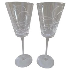Kate Spade for Lenox Crystal Wine Glasses - A Pair