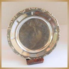Waldershof Bavaria Germany Silver Overlay Plate