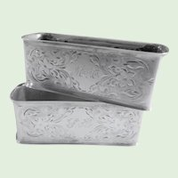 Sterling Etched Vintage Napkin Rings G.H. French  - a Pair