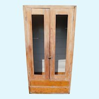 Antique American Pine 19th C. Farmhouse Cupboard/Armoire