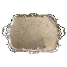Antique Christofle Hallmarked Silverplate Serving Tray C.1875