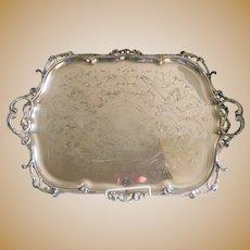 Antique Christofle Hallmarked Silverplate Serving Tray C.1875