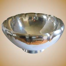 Mid Century Hallmarked Gorham Hammered Sterling Punch Bowl
