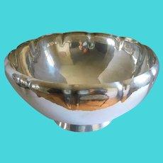 Mid Century Hallmarked Gorham Punch Bowl - Hammered Sterling