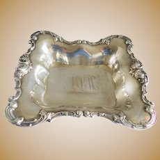 Antique Sterling Woodside Victorian Rectangular Dish