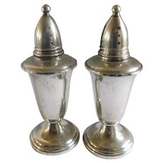 Mid Century Crown Sterling Salt and Pepper Shakers - a Pair
