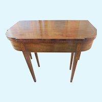 Antique Demi-Lune Mahogany Marquetry Extension Table