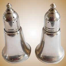 Sterling Vintage Crosby Weighted Salt & Pepper Shakers - a Pair