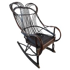 20th C. American Adirondack Twig Willow Rocking Chair