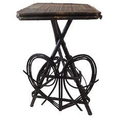 20th C. American Adirondack Twig Willow Table