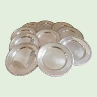 Sterling F.B. Rogers & Co. Mid-Century Bread/Dessert Plates - Set of Ten