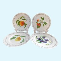 Williams Sonoma Porcelain 'Historic Poetic Quotes' Fruit Plates - Set of Four