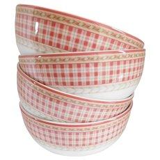 Royal Doulton Studio Rouge Provence Vintage Pasta/Soup Bowls - Set of Four