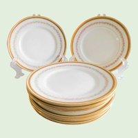 Limoges Floral Porcelain Pitkin & Brooks Dessert, Bread Plates - Set of 8