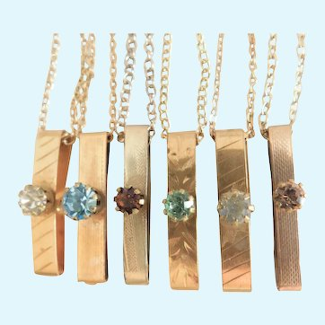 Victorian Lingerie Pin ID Necklaces on Chains