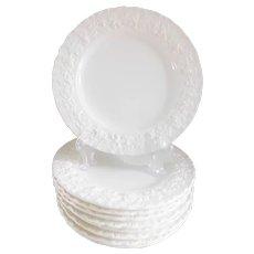 Wedgwood Of Etruria and Barlaston Queensware Cream English Salad Plates - Set of Nine