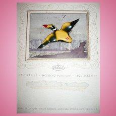 Catalin Co. Advertisement and Bakelite  Duck Pin