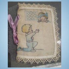 Vintage Embroidered Needle Case