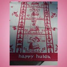 Vintage Cotton Happy Hulda  Towel
