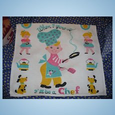 When I Grow Up Chef Dish Towel