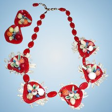 Cha Cha  Fruit Necklace & Earrings