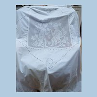 Angels  Hand Crochet Embroidered Panel