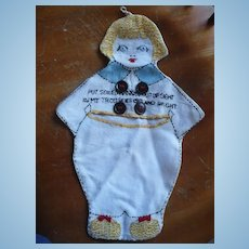 Hand Embroidered Little Boy Hankie Bag
