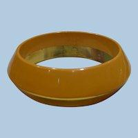 Saucer Half & Half Bakelite Bracelet