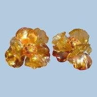 Floral Acetate Earrings