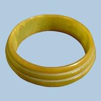 Saturn Ring Bakelite Green Bracelet