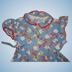 1940's Cotton Print Girls Dress