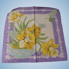 Spring Daffodil Handkerchief
