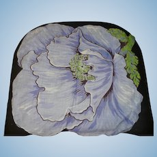 Large Blue Flower Handkerchief