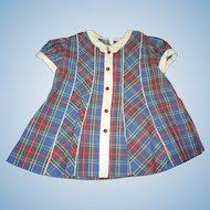 Girl's Plaid Worlds Fair Dress 1939